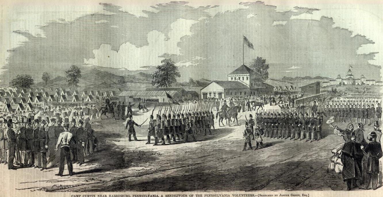 Camp Curtin (Harper's Weekly, 1861)
