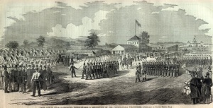 Camp Curtin (Harpers Weekly, 1861; public domain).