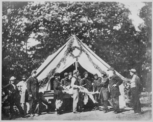 Amputation Performed in Front of Tent, Gettsburg, 1863 (Library of Congress, public domain).
