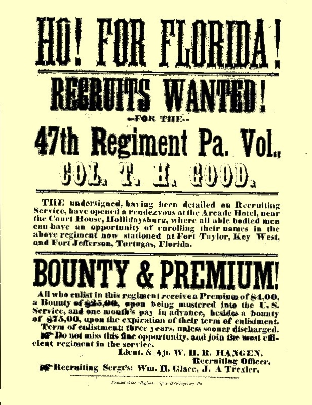 47th Pennsylvania Volunteers: Civil War-Era Recruiting Flyer