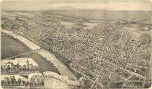 Wilkes-Barre, Pennsylvania, c. 1889 (public domain).