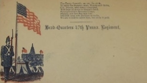 Unused Envelope, 47th Regiment, Pennsylvania Volunteer Infantry (c. 1861-65).
