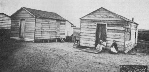 Built on the Drayton Plantation on land known today as Hilton Head Island, South Carolina, Mitchelville turned a cotton field formerly tended by slaves into the first self-governed community of freedmen. Photograph: Samuel Cooley, U.S. National Archives (public domain).