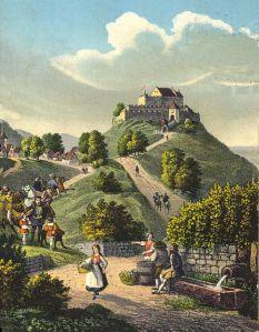 Württemberg Castle, circa 18th Century (Jakob Heinrich Renz, public domain).