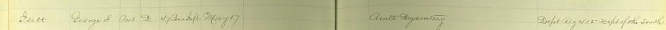 Isett, George - 1862 Acute Dysentery Death - Vols Death Ledger