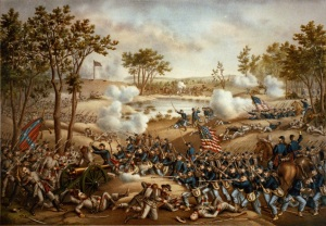 Battle of Cold Harbor (Library of Congress, public domain).