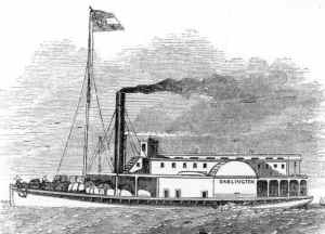 Illustration of the Darlington, a former Confederate steamer turned Union gunboat (public domain).
