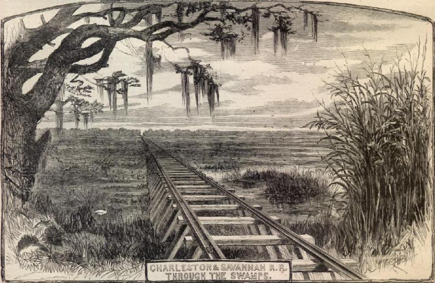 Charleston & Savannah Railroad (Harper's Weekly, 1865)