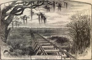 The challenging environment of the Charleston & Savannah Railroad was illustrated by Harper's Weekly in 1865.