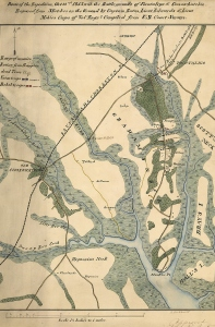 Union Army map of the Pocotaligo-Coosawhatchie Expedition, 21-23 October 1862 (public domain).