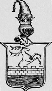 "Motto: ""War, the Chase and Liberty."" Coat of Arms, Family of Michelet, free city of Metz, German empire. Source: Taken from Vienna's book of heraldry by Professor Dr. C. F. Michelet; provided to Minnie F. Mickley, 1883 (public domain)."