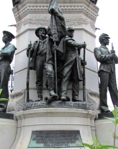 Unity segment of the Lehigh County Soldiers and Sailors Monument, Allentown, Pennsylvania (public domain).