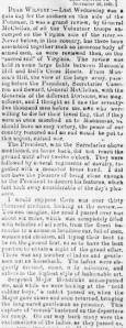 Henry Wharton's Grand Review Recap 26 Nov 1861, Sunbury American, 7 Dec 1861