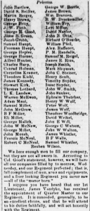 Henry D. Wharton's 10 Sep 1861 Letter (pts 1 and 2), Co. C Roster, 47th Pennsylvania Volunteers (Sunbury American, 14 Sep 1861)
