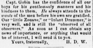 Henry Wharton's 10 Sep 1861 Letter with Co. C Roster (pt 3), Sunbury American 14 Sep 1861