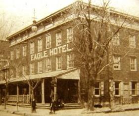 Eagle Hotel, Catasauqua, PA. c. 1900s (public domain).