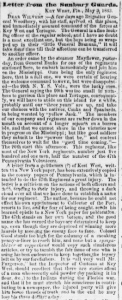 Henry D. Wharton's Letter Home, 3 May 1863, part 1 (Sunbuy American, 30 May 1863)