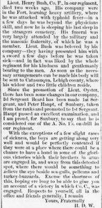 Henry D. Wharton, Camp Brannan Letter, Key West, Florida, 19 Apr 1862-part 2 (Sunbury American 3 May 1862)