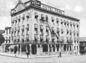 Hotel Penn, Allentown, PA, c. 1910 (public domain).