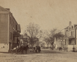 Bay Street Looking West, Beaufort, South Carolina, c. 1862 (Sam A. Cooley, 10th Army Corps, photographer, public domain).