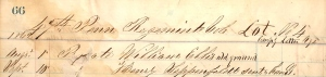 Private William Ellis, Initial Interment, Beaufort, SC, August 1862 (U.S. Army Burial Ledger, public domain).