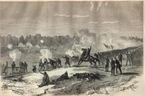 Battle of Pleasant Hill, Louisiana, 9 April 1864 (Harper's Weekly, 7 May 1864, public domain).