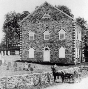 St. Daniel's Stone Church (CornerChurch) and Cemetery, Robesonia, Pennsylvania,c. mid to late 1800s (public domain).