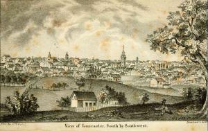 Daniel Rupp's depiction of Lancaster County, c. 1844 (public domain).