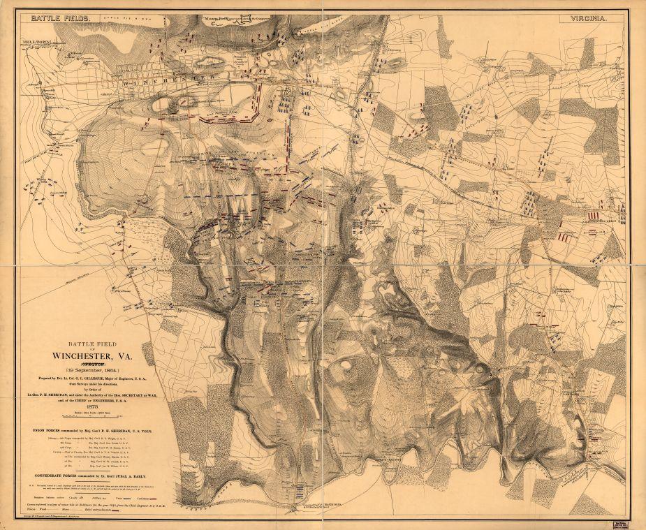 Battle of Opequan (aka Third Winchester), Virginia, 19 September 1864 (public domain)