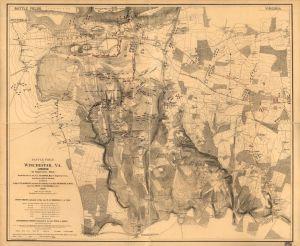 Battle of Opequan (aka Third Winchester), Virginia, 19 September 1864 (public domain).
