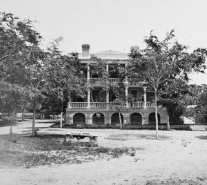 Robert Barnwell Rhett's Home, Beaufort, South Carolina (circa 1860s, U.S. Library of Congress, public domain).