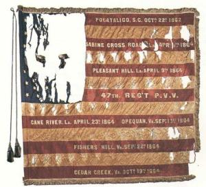 Second State Colors, 47th Pennsylvania Veteran Volunteers (presented to the regiment 7 March 1865).