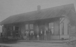 Train Station, Blain, Perry County, Pennsylvania (c. late 1800s-early 1900s, public domain)