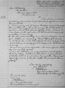 W. H. R. Hangen's Freedmen's Bureau Report No. 30 re Assault on Freedman Martin Owens and Myrod Family Involvement in Freedmen's Church Shooting (30 November 1866, public domain).