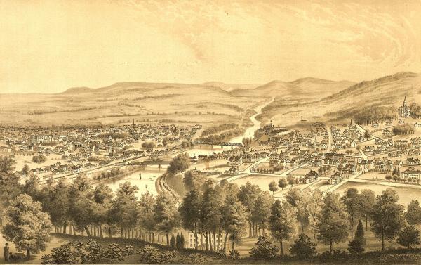 Bethlehem, Northampton County, Pennsylvania, 1877 (U.S. Library of Congress, public domain)