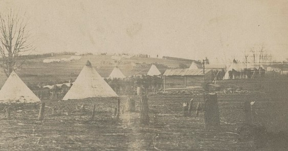 Unknown Regiment, Camp Griffin, Virginia, 1861 (public domain, U.S. LOC)