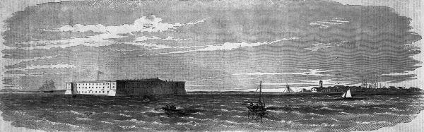Fort Taylor, Key West, Florida, 1861 (courtesy, State Archives of Florida)